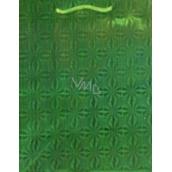 Nekupto Gift paper bag Christmas green - hologram standard L- THL 050 50