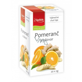 Apotheke Natur Orange and ginger fruit tea helps digestion, breathing and well-being 20 x 2 g