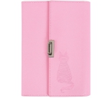 Block in PU cover - pink