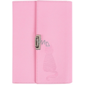 Albi Block in folding PU cover, lined pink 80 sheets 14 cm x 19.5 cm x 2.3 cm