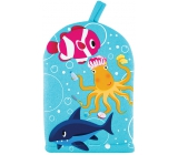 Baylis & Harding Kids Octopus goldfish and shark washcloth for children 1 piece