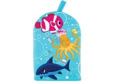 Baylis & Harding Kids Octopus goldfish and shark washcloth for children 1 piece