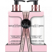 Baylis & Harding Jojoba, Vanilla and Almond oil cleansing gel 300 ml + body lotion 300 ml, cosmetic set