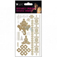 Tattoo decals gold and silver 15 x 9 cm 1134