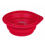 Trixie Travel bowl, silicone, folding red, diameter 0.25 l