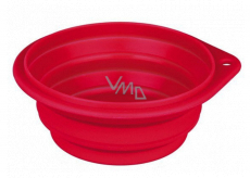 Trixie Travel bowl, silicone, folding red, diameter 0.25 l