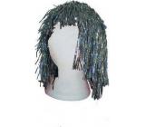 Hologram silver wig