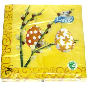 Lambi Paper napkins 3 ply 33 x 33 cm 20 pieces Easter Eggs with cats