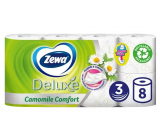 Zewa Deluxe Aqua Tube Camomile Comfort perfumed toilet paper 3 ply 150 pieces 8 pieces, roll that can be rinsed
