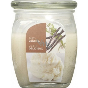 Bolsius Aromatic Tasty Vanilla - Vanilla scented candle in glass 92 x 120 mm 830 g, burning time 100 hours