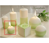 Lima Aromatic spiral Lily of the valley candle white - green ball 60 mm 1 piece