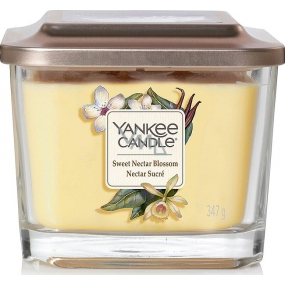 Yankee Candle Sweet Nectar Blossom - Sweet Floral Nectar Soy Scented Candle Elevation Medium Glass 3 Wicks 347 g