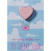 Bomb Cosmetics You Make My Heart Soar Sparkling greeting card with ballistics 40 g