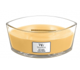 WoodWick Oat Flower - Oat flower scented candle with wooden wide wick and boat lid 453 g