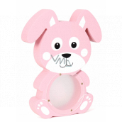 Albi Treasure chest wooden animal Rabbit pink 22 x 5 x max 22 cm