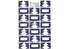 Arch Christmas tree blue Christmas gift stickers 20 labels 1 arch