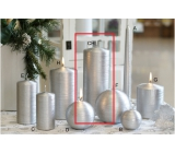 Lima Alfa candle silver cylinder 80 x 200 mm 1 piece