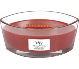 WoodWick Cinnamon Chai - Cinnamon and vanilla scented candle with wooden knot and lid glass ship 453 g
