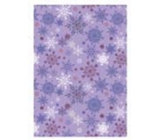 Ditipo Gift wrapping paper 70 x 200 cm purple snowflakes