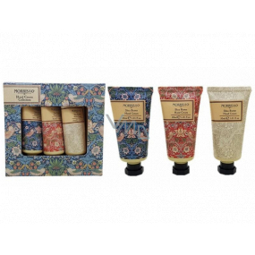 Heathcote & Ivory Strawberry Thief nourishing cream for hands and nails 3 x 30 ml cosmetic set