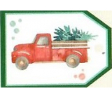 Nekupto Christmas gift cards Car with tree 5.5 x 7.5 cm 6 pieces