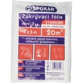 Spokar Standard Zakrývací folie HDPE - 7my, 4 x 12,5 m