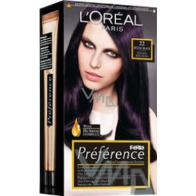 Loreal Paris Préférence Féria hair color 22 mystic black black - purple