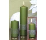 Lima Ribbon candle cylinder light green 50 x 100 mm 1 piece