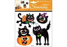 Room Decor Halloween stickers cats 23 x 18 cm