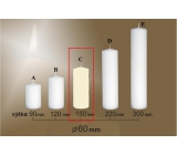 Lima Gastro smooth candle ivory cylinder 60 x 150 mm 1 piece