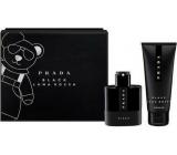 Prada Luna Rosa Black 50 ml perfume water for men + shower gel 100 ml, gift set