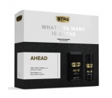 Str8 Ahead after shave 100 ml + deodorant spray 150 ml, cosmetic cassette