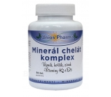 Uniospharma Mineral chelate complex contains minerals calcium, magnesium and zinc in the form of chelates maintains the condition of bones and teeth 90 tablets