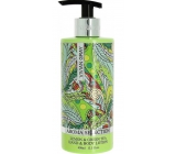 Vivian Gray Aroma Selection Lemon & Green Tea luxury hand and body lotion with 400 ml dispenser