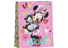 BSB Gift paper bag for kids big Disney Minnie with cat 32,4 x 26 x 12 cm DT L