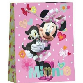 BSB Gift paper bag for children large Disney Minnie with cat 32.4 x 26 x 12 cm DT L