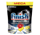 Finish Quantum Ultimate Lemon tablets for the dishwasher, protects dishes and glasses, brings dazzling purity, shine 65 pieces