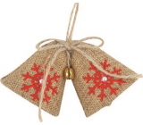 Jute bells hanging with a bell 10 cm