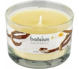 Bolsius Aromatic Vanilla - Vanilla scented candle in glass 90 x 65 mm 247 g burning time approx. 30 hours