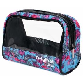 Albi Original Cosmetics bag with Flamingos window 19 x 13 x 9 cm