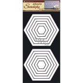 Wall stickers hexagons white 60 x 32 cm