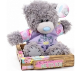 Me to You Teddy bear in violet shirt 14 cm