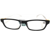 Glasses diop.plast. + 2,5 black white side MC2151