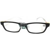 Glasses diop.plast. + 2,5 black white side MC2151