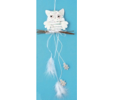 White owl for hanging, trees 22 cm