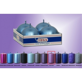 Lima Candle smooth metal violet ball diameter 60 mm 4 pieces