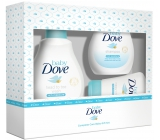 Dove Baby Rich Moisture cleansing gel for body and hair for children 200 ml + body lotion 200 ml + cream for sores 45 g, cosmetic set