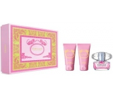Versace Bright Crystal EdT 50 ml Eau de Toilette + 50 ml Body Lotion + 50 ml Shower Gel, gift set