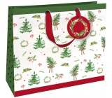 Nekupto Gift paper bag luxury large 33 x 33 cm Christmas WLIL 1789