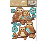 Room Decor Wall stickers for plastic owls 42 x 28 cm